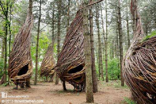 Image of: Sculptures Will Beckers Land Art Artist The Willowman Manhattan Arts International Nature Art Education